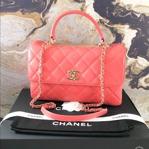 Chanel Trendy CC Medium Leather Top Handle Bag